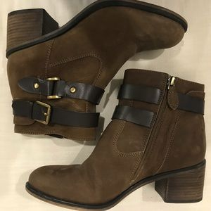 Franco Sarto ankle high boots with buckle